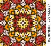 mandala. ethnic decorative... | Shutterstock .eps vector #1097823977