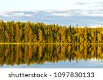 wonderful wild forest and lake... | Shutterstock . vector #1097830133