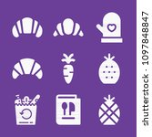 set of 9 food filled icons such ... | Shutterstock .eps vector #1097848847