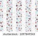 seamless dots pattern | Shutterstock .eps vector #1097849543