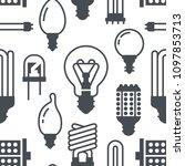 light bulbs seamless pattern...   Shutterstock .eps vector #1097853713