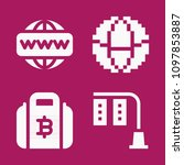 set of 4 business filled icons... | Shutterstock .eps vector #1097853887