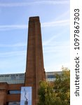 Small photo of The close up of chimney of Tate Modern gallery, London
