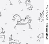 seamless pattern with horse | Shutterstock .eps vector #109787717