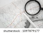 top view travel or vacation... | Shutterstock . vector #1097879177