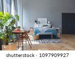elegant fashionable interior of ... | Shutterstock . vector #1097909927