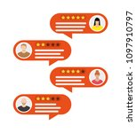rating app. bubble speeches and ...   Shutterstock .eps vector #1097910797
