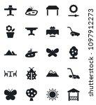 set of vector isolated black... | Shutterstock .eps vector #1097912273