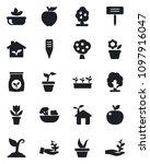 set of vector isolated black... | Shutterstock .eps vector #1097916047