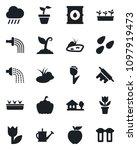 set of vector isolated black... | Shutterstock .eps vector #1097919473