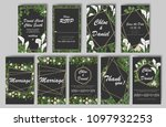 set of wedding invitations with ... | Shutterstock .eps vector #1097932253