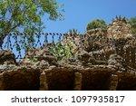 gaudi park in barcelona  details | Shutterstock . vector #1097935817
