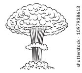 Comic Style Nuclear Explosion...