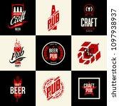 modern isolated craft beer...   Shutterstock .eps vector #1097938937