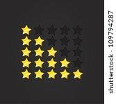 glossy rating stars yellow ... | Shutterstock .eps vector #109794287