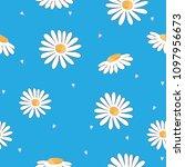 cute flowers seamless pattern... | Shutterstock .eps vector #1097956673