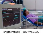 monitor vital signs for patient ... | Shutterstock . vector #1097969627
