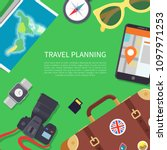 travel planning poster and text ... | Shutterstock .eps vector #1097971253