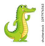 crocodile on white background... | Shutterstock .eps vector #1097976563