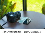 camera  mobile phone and... | Shutterstock . vector #1097980037