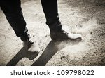 Boots Dust - stock photo