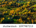 autumn leaves with yellow... | Shutterstock . vector #1097987213