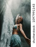 young beautiful tourist... | Shutterstock . vector #1097991143