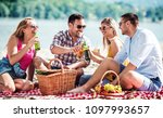 summer time. young couples on... | Shutterstock . vector #1097993657