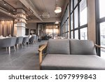 modern interior of coffee shop... | Shutterstock . vector #1097999843