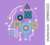 future artificial intelligence... | Shutterstock .eps vector #1098001223