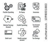 medical tax savings w health... | Shutterstock .eps vector #1098001883