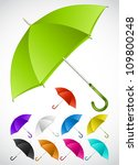 Colorful umbrellas set. Vector - stock vector