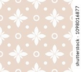 seamless pattern with flowers... | Shutterstock .eps vector #1098016877