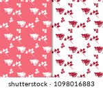 seamless pattern with flowering ... | Shutterstock .eps vector #1098016883
