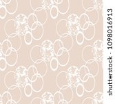 floral seamless pattern with... | Shutterstock .eps vector #1098016913