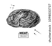 minced meat vector drawing.... | Shutterstock .eps vector #1098033737