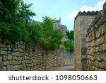 medieval village in france | Shutterstock . vector #1098050663