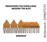 germany  prehistoric pile... | Shutterstock .eps vector #1098075737