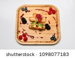 fried rolls with duck meat and... | Shutterstock . vector #1098077183
