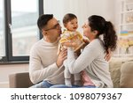 family  parenthood and people... | Shutterstock . vector #1098079367