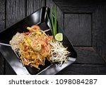 'pad thai' thai styled pan... | Shutterstock . vector #1098084287