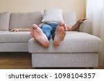 faceless adult tired man in... | Shutterstock . vector #1098104357