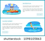 water sport web set with text... | Shutterstock .eps vector #1098105863