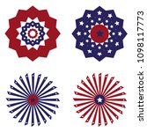 us flag round bunting... | Shutterstock .eps vector #1098117773