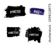 set of metoo cards. handwritten ... | Shutterstock .eps vector #1098118973