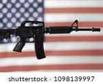 concept for gun control or gun... | Shutterstock . vector #1098139997