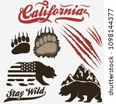 california bear  grizzly... | Shutterstock .eps vector #1098144377