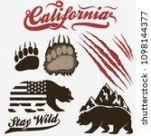 california bear  grizzly... | Shutterstock .eps vector #1098144377