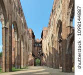 Small photo of Ruins of Tartu Cathedral, also known as Dorpat Cathedral, Estonia. The cathedral was built from the 13th to 15th century and was abandoned and began to ruined from the second half of the 16th century.