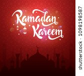 ramadan kareem greeting card... | Shutterstock .eps vector #1098198587
